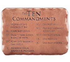 Visor Clip -  The Ten Commandments Copper