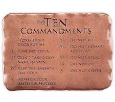 Visor Clip -  The Ten Commandments Copper