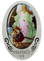 Angel Protect Us and Children Visor Clip