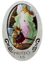 Angel Protect Me & My children  Visor Clip