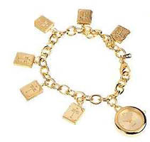 Gold Cross Lockets Bracelet Watch
