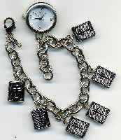 Silver Cross Locket Bracelet Watch