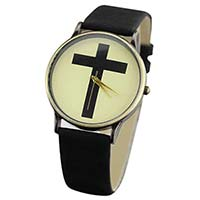 Women's Cross Rubber Watch