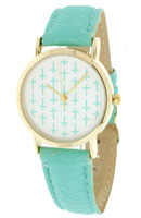 Turquoise Cross Watch Leather Band