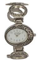 Oval Cross Cuff Bangle Watch