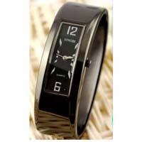 Black Bangle Bracelet Watch