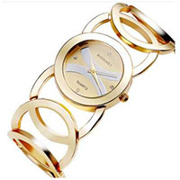 Gold Bracelet Watch Stainless Steel