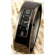 Black Bangle Bracelet Watch