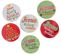 Jesus is the Reason Buttons Metal Mini (Pkg of 24)