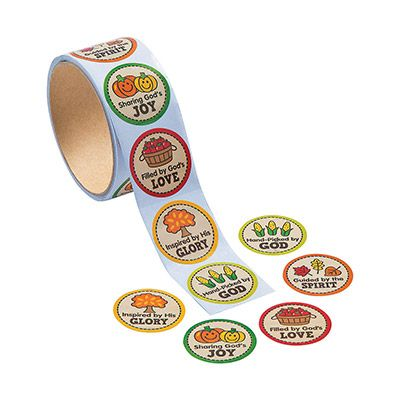 Faith Fall Market Stickers (Roll of 100)