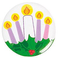 Advent Mini Buttons with Card (Pkg of 6)