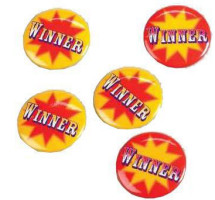 Winner Buttons (Pkg of 6)