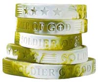 Soldier of God Silicone bracelets