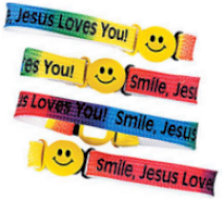 Smile Jesus Loves You Bracelets woven Christian