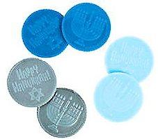 Hanukkah Coins Plastic  Pack of 24