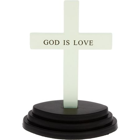 God is Love Glow in Dark Desk Cross & Stand