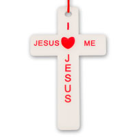 Inexpensive Jesus Loves Me Cross Necklaces