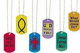 Assorted Christian Metal Dog Tags