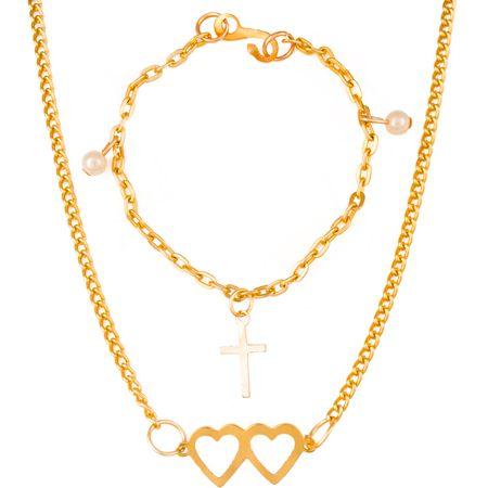 Little Girl's Heart Necklace or Pearl Bracelet (Pkg of 24)