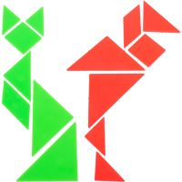 Shapes IQ Challenge Tangram Puzzle