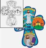 Holy Week Crosses, Childrens Coloring