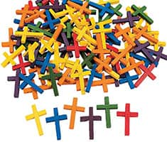 Wood Cross Assorted Colors (Pkg of 100)