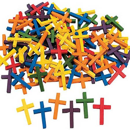 Wood Crosses Assorted Colors (Pkg of 100)