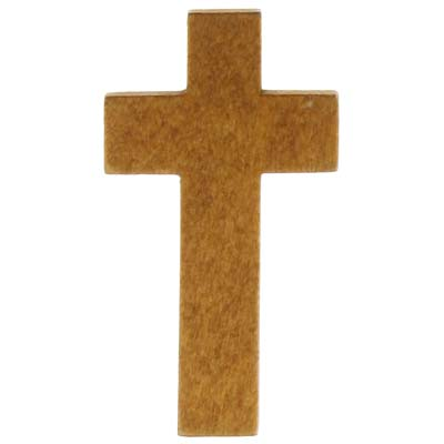 Wood Pocket Cross Stained Finish (Pkg of 50)