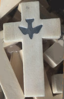 Spirit Dove Wood Pocket Cross  Confirmation