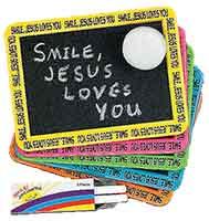 Smile! Jesus Loves You! Individual Chalkboard Sets