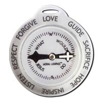 Christian  Moral Compass Keychain