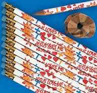 Jesus Loves Me Pencils (Pkg of 10)
