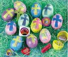 Plastic Toy Filled Easter Eggs<br>(Pkg of 24)