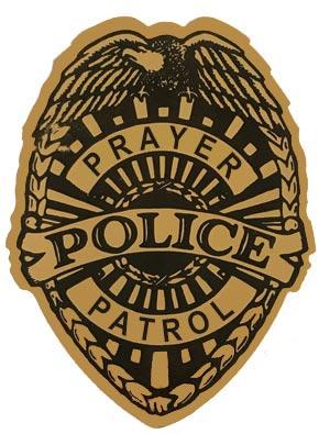 Gold Foil Prayer Patrol Badge Stickers (Roll of 250)