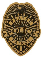 Gold Foil Prayer Patrol Badge Stickers (Roll of 250)