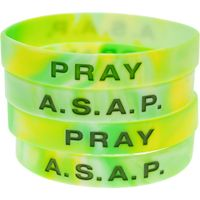 A.S.A.P. Always Say A Prayer Silicone Bracelets