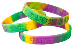 He Lives Silicone Bracelets