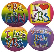 Vacation Bible School Stickers (Pkg of 100)