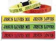 JESUS LOVES ME Woven Bracelets