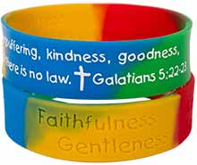 Fruit of the Spirit Bible Quote Silicone Bracelet Fruit of the Spirit Bible Quote Silicone Bracelet