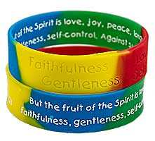 Fruit of the Spirit Bible Quote Silicone Bracelet