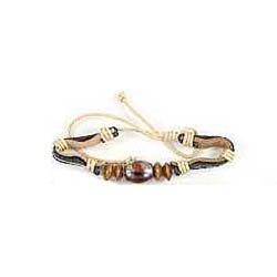 Boy's or Girl's Punk Decorated Leather Bracelets Gold