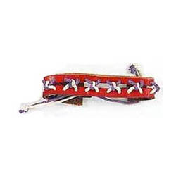 Boy's or Girl's Punk Decorated Leather Bracelets Red