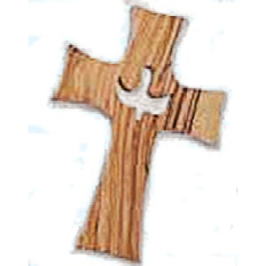 Olive Wood Hand Confirmation Cross