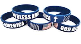God Bless America Silicone Bracelet - USA
