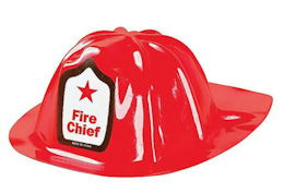 Children's Fireman  Fire Chief Helmet Hat