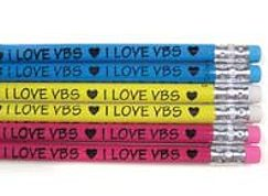 I Love VBS Wood Pencils (Pkg of 12)