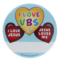 VBS Badges I Love Jesus (Pkg of 12)