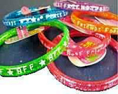 BFF  Best Friend Forever Glitter Bangle Bracelets