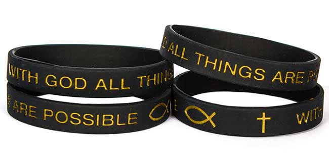 All Things Are Possible Silicone Bracelet
